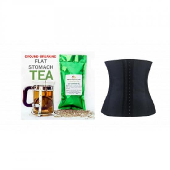 a64da330475 Latex Waist Trainer   Flat Stomach Tea Combo